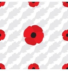 Poppy Flowers Seamless Pattern vector image
