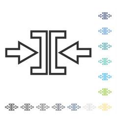 Pressure arrows horizontal icon vector