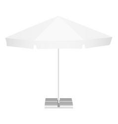 Promotional outdoor garden parasol vector