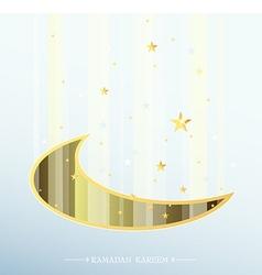 Ramadan greeting card design vector image