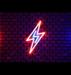realistic isolated neon sign energy vector image