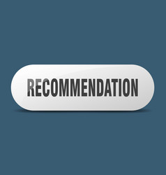 Recommendation button sticker banner rounded vector