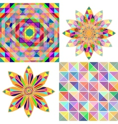 Set of four abstract background with geometric vector image