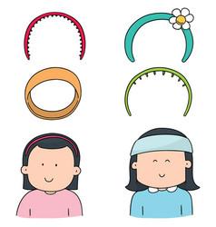 set of headband vector image