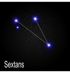 Sextans Constellation with Beautiful Bright Stars vector