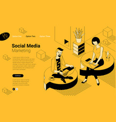 social network communication vector image
