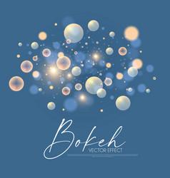 soft bokeh elegant light effect fluid vector image