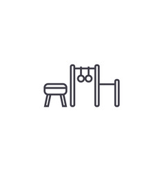 sports equipment line icon sig vector image
