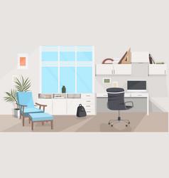 Stylish home modern living room interior empty no vector