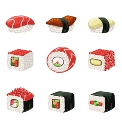 Suchi And Rolls Set vector