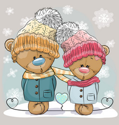 Teddy bear boy and girl vector