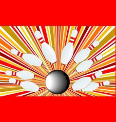 ten pin splash vector image