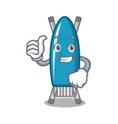 thumbs up iron board character cartoon vector image