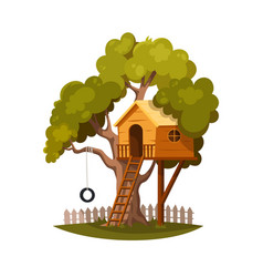 Tree house for kids vector