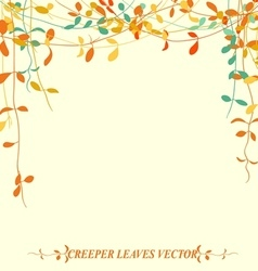 tropical creeper leaves for autumn vector image