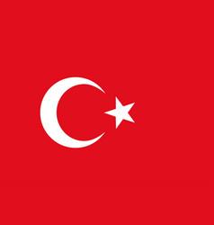 Turkish flag white star crescent red background vector