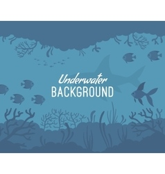 Underwater background template vector