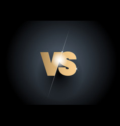 versus sign gold 3d symbol vector image