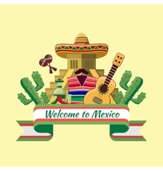 Welcome to mexico poster vector image
