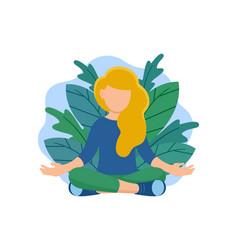 yoga cartoon vector image