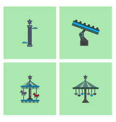 Amusement park stock vector