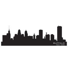 Buffalo New York Detailed city silhouette vector image vector image