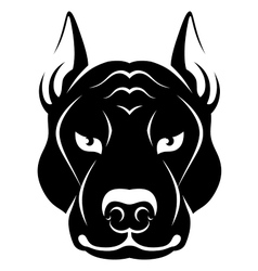 Dog face symbol vector image vector image