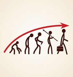 Evolution success concept vector image vector image