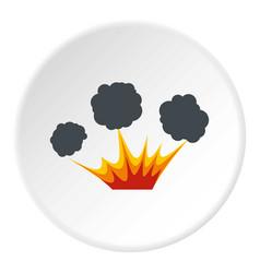Explosion icon circle vector