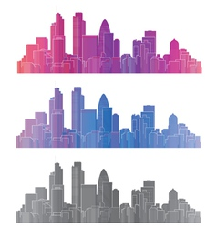 London city vector image