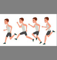 male running animation frames set sport vector image