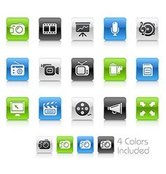 Multimedia Clean Series vector image vector image