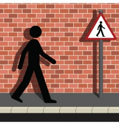 pedestrian vector image vector image