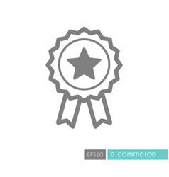 ribbon award best seller icon vector image
