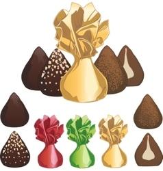 Truffle chocolate candies vector image