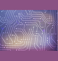 white microchip pattern on blurred background vector image