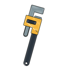 adjustable plumbing and pipe wrenche tool repair vector image