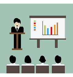 Business meeting background background vector