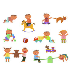 infographic elements children play vector image