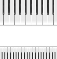 keyboard piano2 vector image