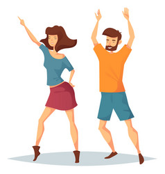 man and woman dancing at music club or disco vector image