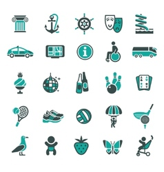 signs recreation travel vacation fourth set vector image vector image