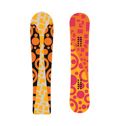 snowboard sport boards elements vector image