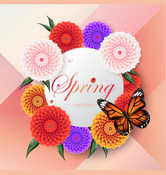 spring background beautiful colorful dahlia flower vector image