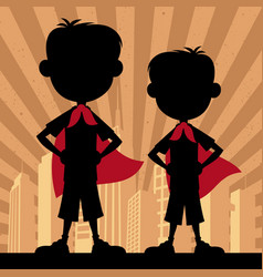 super kids 2 boys vector image