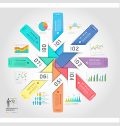 business infographics elements template vector image vector image