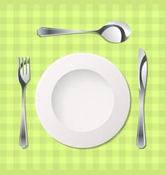 cutlery with gradients vector image vector image
