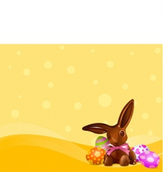 Easter chocolate bunny background vector image
