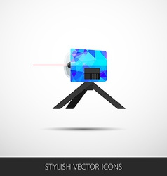 leveling in a flat style with shadow vector image
