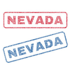 nevada textile stamps vector image vector image